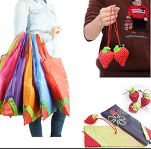 Thicken Eco Storage Handbag Foldable Strawberry Shopping Bag Tote Reusable Supermarket Storage Bags Colorful