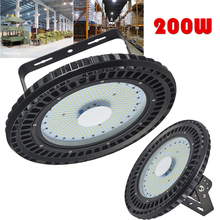 GERUITE 200W UFO Industry Light LED Hall Lamp 16000LM SMD 5730 220V 110V 6000K-6500K Mining Lights Industrial Lighting(China)