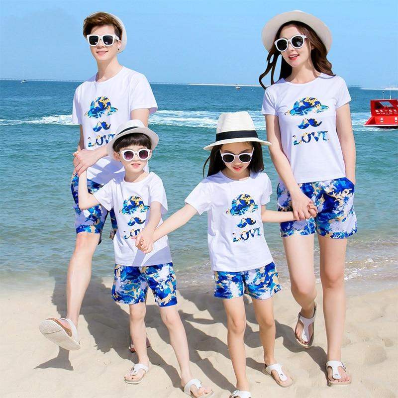 Girls Summer Holidays Beach 2PCs Clothing Set Top Blouse Shorts Floral Dress