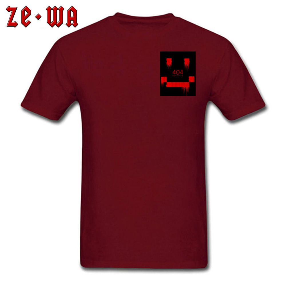 Men Top T-shirts An Error Has Occurred Normal Tops & Tees 100% Cotton Round Neck Short Sleeve Normal Tops Shirt Summer/Autumn An Error Has Occurred Chest maroon
