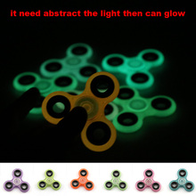 Buy Luminous Hand Spinner ABS Fidget Spinner Anti Stress Reliever Transparent Handspinner Glow Tri-Spinner Toys Autism ADHD for $1.39 in AliExpress store