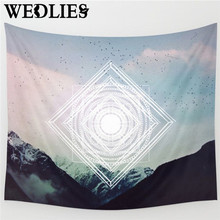 150X130cm Wall Hanging Tapestry Mountain Prints Bedspread Throw Blanket Rug Yoga Mat Home Room Wall Decor Home Textiles