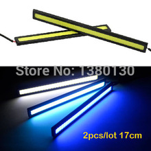 2pcs Waterproof 17cm COB DRL LED Car Parking LED DRL Daytime Running Light Auto Lamp For Universal Car light source FreeShipping