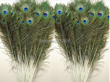 Wholesale Price! 200pcs/lot, length:25-30 cm,beautiful natural peacock feather wedding centerpieces for tables