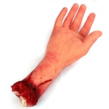 Human Arm Hand Bloody Dead Body Parts Haunted House Halloween Prop Right
