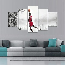 Hot Sale Legend Poster NBA Basketball Famous Star Michael Jordan Chicago Bulls Fashion Gifts Wall Art Oil Painting