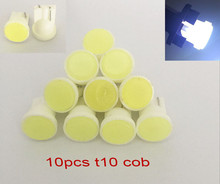 10x Ceramic Car Interior LED T10 COB W5W 168 Wedge Door Instrument Side Bulb Lamp Car Light White/Blue/Green/Red/Yellow Source(China)