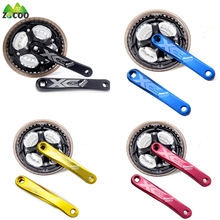 Zocoo aluminum alloy 7, 8, 9 speed Fixed gear chain wheel crankset road bike cycling folding bicycle bike Parts mtb crankset