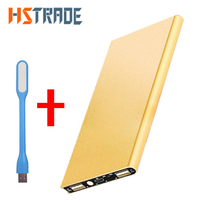 HSTRAOE 12000 mAh Power Bank Portable Charger + led light Backup Power 2 USB External Battery Charger for Phone Fast Shipping