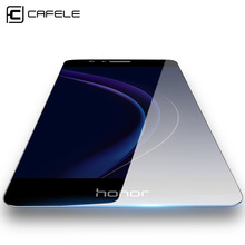 CAFELE Tempered Glass Screen Protector for Huawei Honor 8 Premium Protector Kit ,No Bubbles,99.9% Crystal Clear HD Glass
