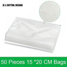 Fast Shipping 50 pieces/lot 15*20CM Bags for Vacuum Sealer Packing Machine 15x20 CM Vacuum Packer Bag for Food Keep Food Flash