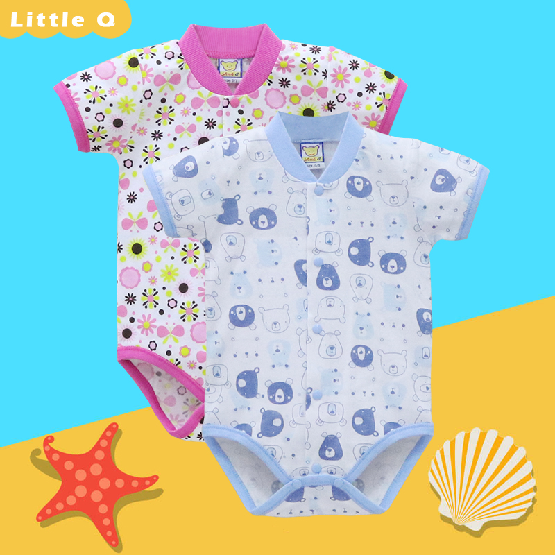 Baby 100% Cotton Bodysuits 2 Piece/lot Boys and girls Clothes for 0-12 months Newborn One Piece Clothing Christmas(China)