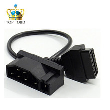 For Ford 7Pin to OBD2 16Pin Cable Converter For Ford 7 Pin to DLC Lead OBDII 16 Pin Female Connector Transfer