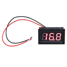 DC 3.2-30V Red LED Panel Meter Mini Digital Voltmeter With Two-wire 0.56inch LCD Display Volt Meter Tester Voltmeter Ammeter(China)