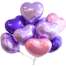 hot 18inch Multicolor Heart Shape Aluminum Foil Balloons Wedding Decoration Helium Balloon Inflatable Air Balls Party Supplies