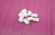 The main shaft worm gear W6X82A plastic gear 6 x 8-2A DIY toy ship model cars accessories handmade free shipping