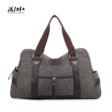 MANJIANGHONG Canvas Travel Bag Abrasion Resistant Breathable Men's Single Shoulder Bag Fashion Casual Women's Duffle Bags M105