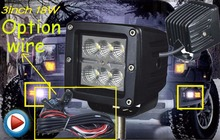 "Only 34USD/PCS,3"" 18W 1600LM 10~30V,6500K,LED working light;Free ship!Optional wire;motorcycle light,forklift,tractor light"