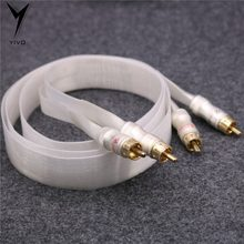 Second-Hand HI-end High Purity RCA to RCA Metal Pure Copper Plated Gold Connector Speaker DIY finished Audio Cable Wire Cord(China)