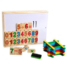 Baby Educational Toys Counting Sticks Math Toy Child MultiFunction Count Bar Digital Double Face Blocks Drawing Wooden Toy Gift(China)