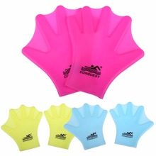 Swimming Webbed Gloves Adult Frog Finger Fin Diving Hand Wear Silicon Swimming Sports Paddle Training Fingerless Gloves(China)