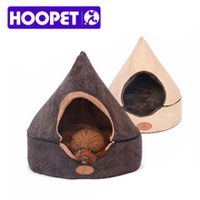 HOOPET Pet Dog Cat Tent House All Seasons Dirt-resistant Soft Yurt Bed with Double Sided Washable Cushion(China)