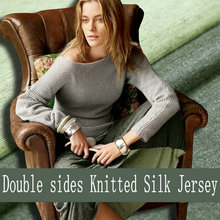 Double Sides 100% Pure Silk Knitted Jersey Fabric For Dress