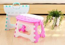 Light Color  Plastic Folding Stools Portable Fishing Useful Outdoor Sitting Sports Home Convenient Folding Step Stool Camping