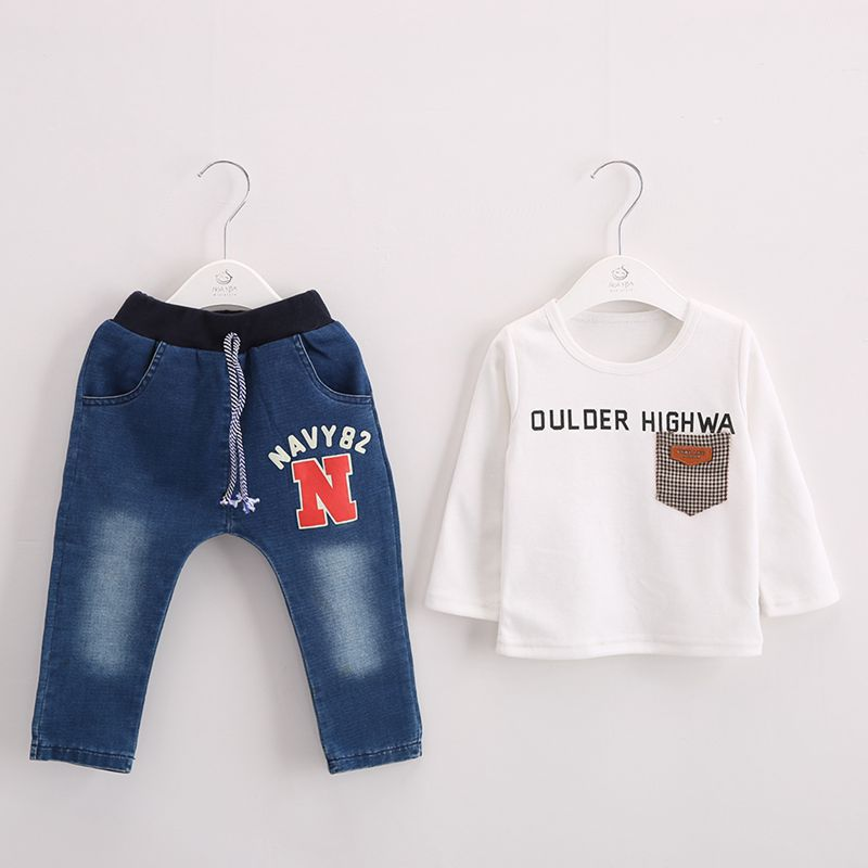 Anlencool baby clothes set new Korean boy child anchor mark three-piece suit Baby boy Sportswear baby clothing free shipping<br>