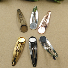 50pcs 12mm 14mm Cabochon Pad/Tray BB Hair Clips Hair Bobby Pin clip,Antique Bronze/Gold/Silver/Black Hairpin DIY Vintage Jewelry