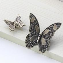 Antique Bronze Kitchen Cabinet Knobs Pulls Handles Decorative Furniture Knob Pull Cute cartoon butterfly knobs for children room