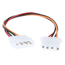 4 Pin Molex Male to 4Pin Molex IDE Female Power Supply Splitter Adapter Cable Computer Power Cable For CPU cooling fan HDD cable