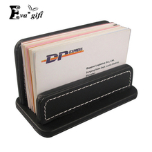 Simple pu leather business card box Bank cards oragnizer holder business card case holder small file storage box(China)
