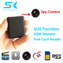 X009 Mini GPS Tracker For Children Pet Car Tracking / GSM GPRS Global Locator with spy mini camera(China)