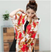 Hot Sale New 2016 Chiffon Silk Scarf For Women Fashion Scarves Female Autumn Winter Polyester(China)