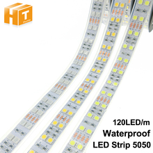 LED Strip 5050 120 LEDs/m DC12V Silicone Tube Waterproof Flexible LED Light Double Row 5050 LED Strip 5m/lot(China)
