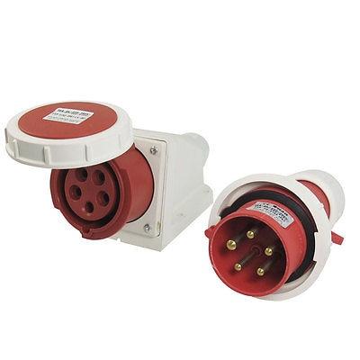 IP67 4 Pin IEC309-2 Panel Mounting Plug AC 220-380V 240-415V 16A<br>