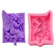 3D Angel Silicone Form Soap Cake Mould Candle Candy Chocolate Jelly Bake Fondant Mold Craft Icing Sugarcraft Paste Bakeware Tool