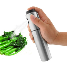 1pc Stainless Steel Olive Pump Spray Fine Bottle Oil Sprayer Pot Cooking Tool AE02268
