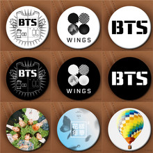 Youpop KPOP BTS Album WINGS You Are Never Walk Alone Young Forever 58mm Round Badge Pins And Brooches For Clothes Hat Backpack