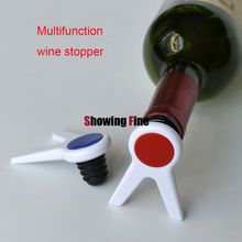 New Arrive 60pcs/lot Multifunction Wine Stopper Bottle Plug and Bottle Rack in One  Promotion Gifts with Your Own LOGO