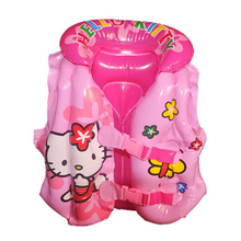 2-5 years Child Swim Vest Girl Inflatable Life Vest for Fishing Baby Floating Vest Swim Circle Ring Swimming Pool Accessories(China)