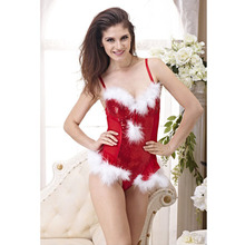 2016 New Year Christmas Sexy Lingerie Women Underwear Push up underwire cup Sexy Sequins Bra sets 32B 34B 36C 36D(China)