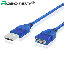 High Quality USB 2.0 A Male AM to USB 2.0 B Type FeMale Extension Printer Wire Cable USB2.0 Cable 0.3m(China)