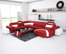 Functional Living Room Genuine Leather Sofa Set Modern Furniture(China)