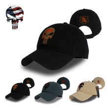 TSNK Men Women Baseball Cap Running Cap Hat Tactical Hat Amercian Punisher SEAL Team Cotton Hat Adjusted Snapback(China)