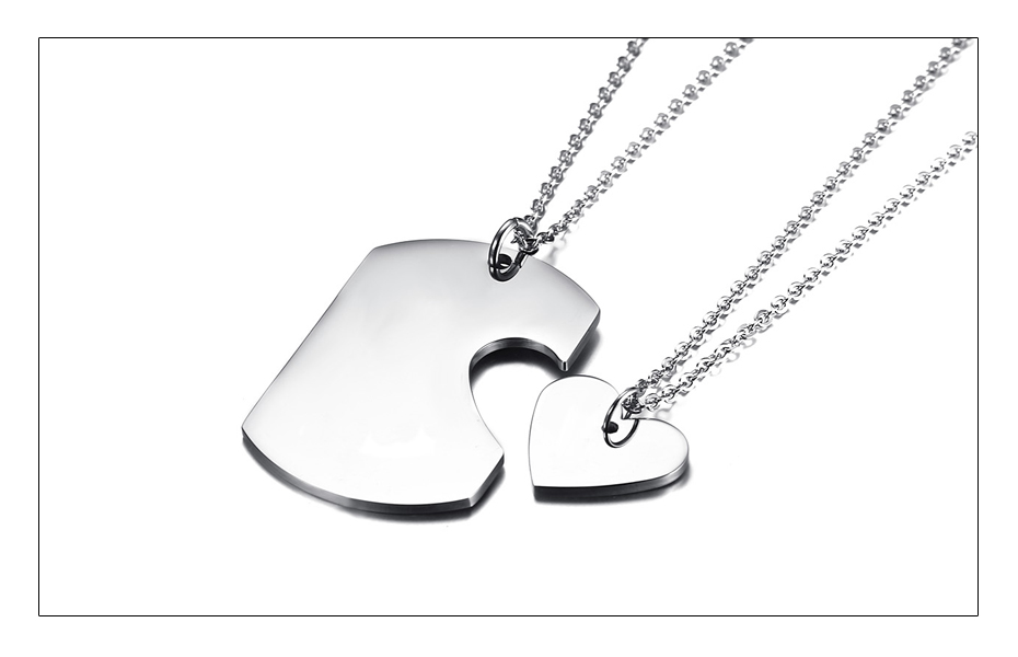 Meaeguet Personalized Stainless Steel Couple Heart ID Necklace Pendant Wedding Jewelry For Women Men Free Laser Engrave Collar (6)
