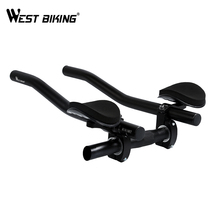 WEST BIKING Bike Road Mountain Bike Cycling Race Bicycle MTB Triathlon Handlebar Rest Handle Bar Separated 2pcs Pipe Rest End