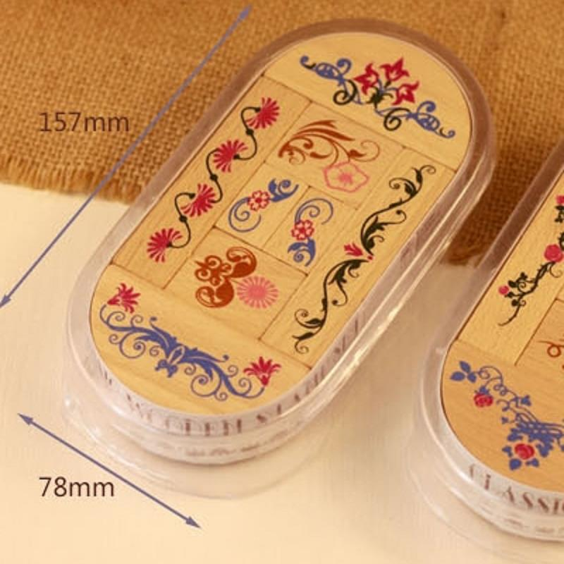 8pcs Classic Lace Morningglory Wooden Diy Scrapbooking Stamp Seal Stamp Stamps Wax  <br><br>Aliexpress