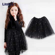 Little J Star Sequinned Girls Tutu Skirts Soft Mesh Lace Children Princess Skirt Baby Tutu Skirt Pettiskirt Children Clothing